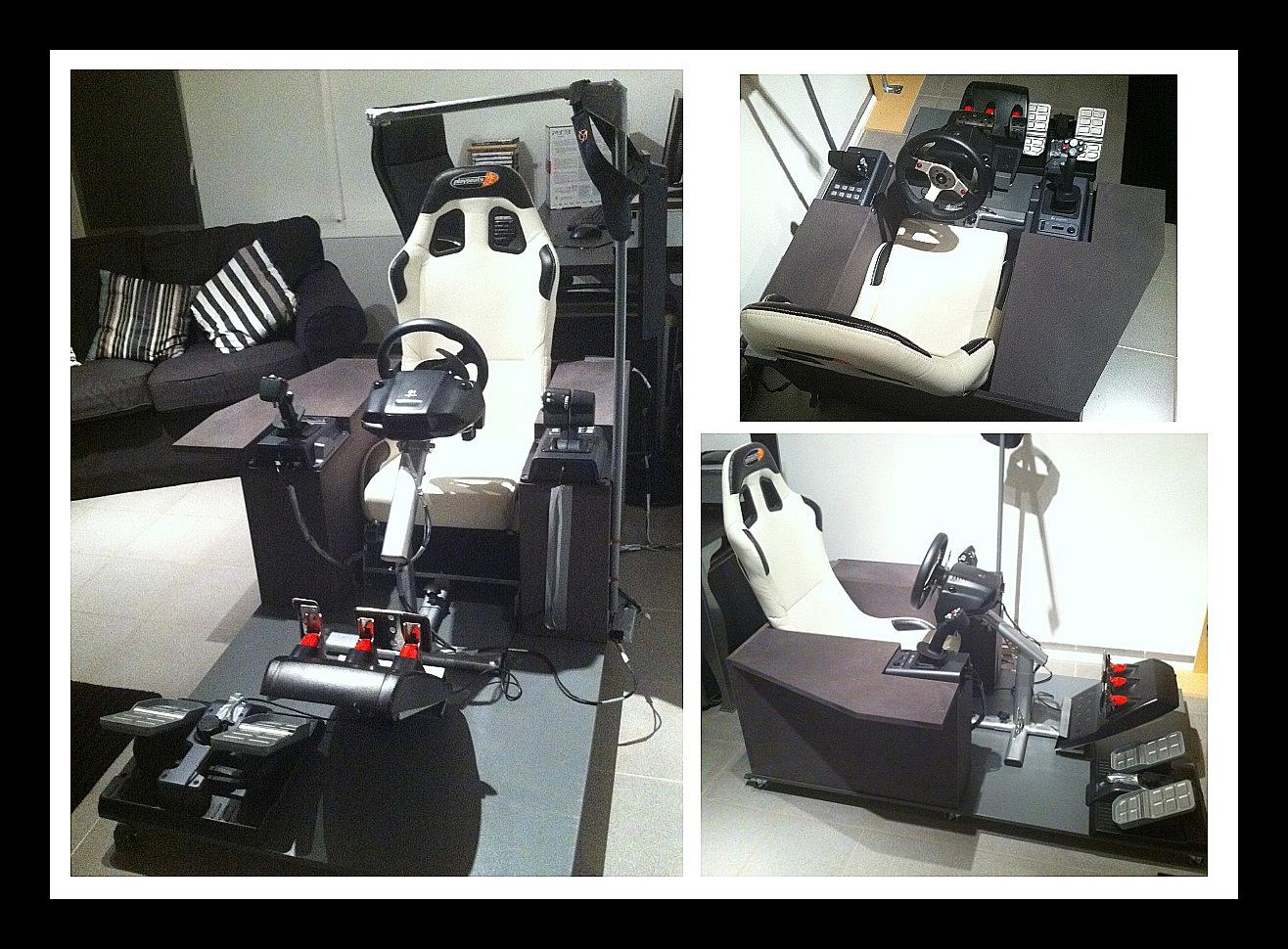 simulateur cockpit home made playseat g25 g940 track ir joys hardware. Black Bedroom Furniture Sets. Home Design Ideas