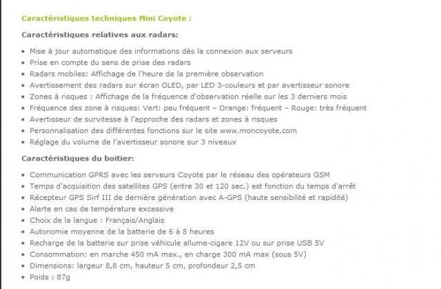 [Vends] COYOTE Mini V1 - Avertisseur de Radar Communiquant - 99€ C4-22f1dc8